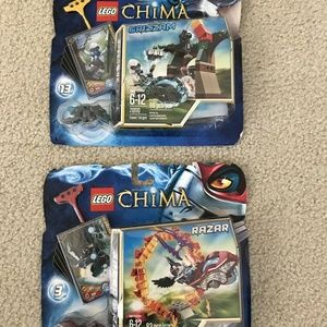 Lego Chima Lot of 2, Grizzam & Razor - NEW sealed